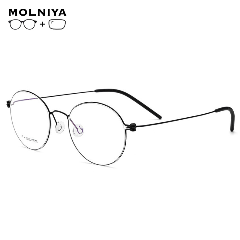 Pure Titanium Prescription Glasses Rimless Glasses Men Fashion Eyeglasses Women Accessories  Anti blue light Polarized Eyewear