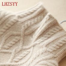 LHZSYY Sweater Women 's Cashmere Knit Jacket Autumn Winter Housewife Sweater High Collar Sweater Standard Pullover S-XL(China)