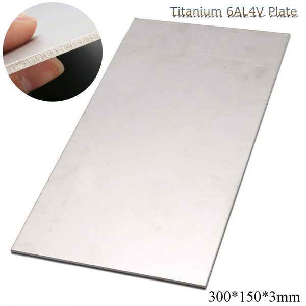 300X150X3mm Thick Titanium 6al 4v Sheet Grade Plate Titanium Metal Sheet Plate Silver Metalwoking Craft Titanium new