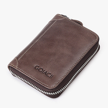 2018 Classic Genuine Leather Card Holder Wallet Case Men Business Hold 20 CARDS Purse For Credit Boys Mini Card Holder 2019 new credit card case for men women business card holder for pu leather cards purse automatic credit cards women wallet