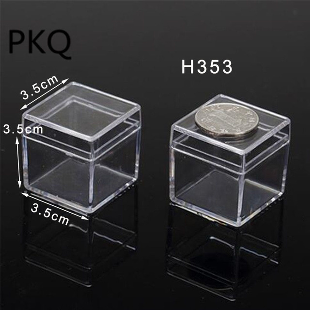 16 Sizes Clear Plastic Storage Box Small Large Square Packaging For Gift Jewelry Accessory Crafts Display Case Container