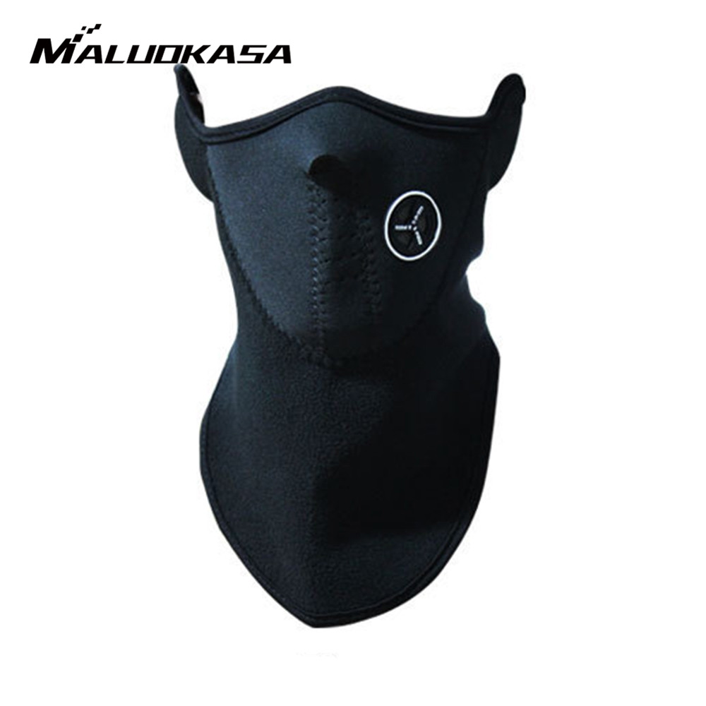 MALUOKASA Motorcycle Half Face Mask Cover Fleece Unisex Ski Snow Moto Cycling Warm Winter Neck Guard Scarf Warm Protecting Maske unisex winter warm fleece full face mask head cover neck warmer scarf hat ski cycling motorcycle balaclava caps outdoor sports