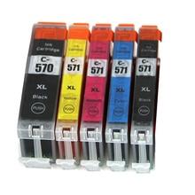 5pcs PGI-570 CLI-571 Ink Cartridge For Canon MG5750 MG5751 MG5752 MG5753 MG6850 MG6851 MG6852 MG6853 Printer Ink PGI-570 PGI570 5pcs 570 pgi 570 cli 571 empty refillable ink cartridge for canon pixma mg5750 mg5751 mg5752 mg5753 mg6850 mg6851 mg6852 mg6853