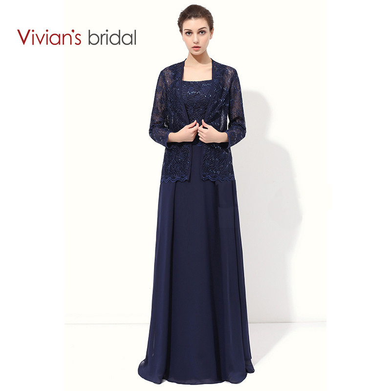 Vivian\'s Bridal Lace A Line Mother Of The Bride Dresses With Jacket ...