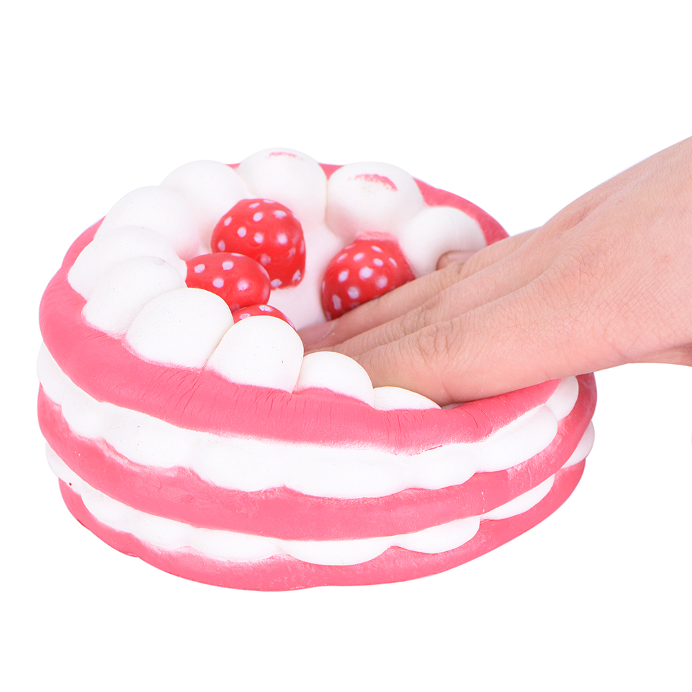 Clever Jetting Candy Cake Doll Slow Rising Phone Straps Bread Kids Toy Gift Squishy Round Jumbo Strawberry Soft Squishy Strengthening Waist And Sinews Cellphones & Telecommunications
