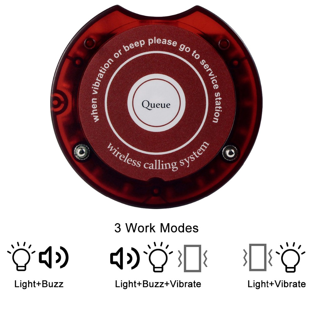 10pcs Restaurant Pager Coaster Chargeable Receiver for Wireless Paging Queuing System Restaurant Equipment F4475