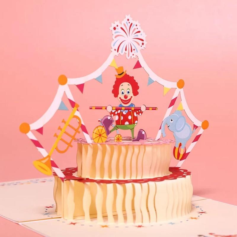 Детская открытка торт