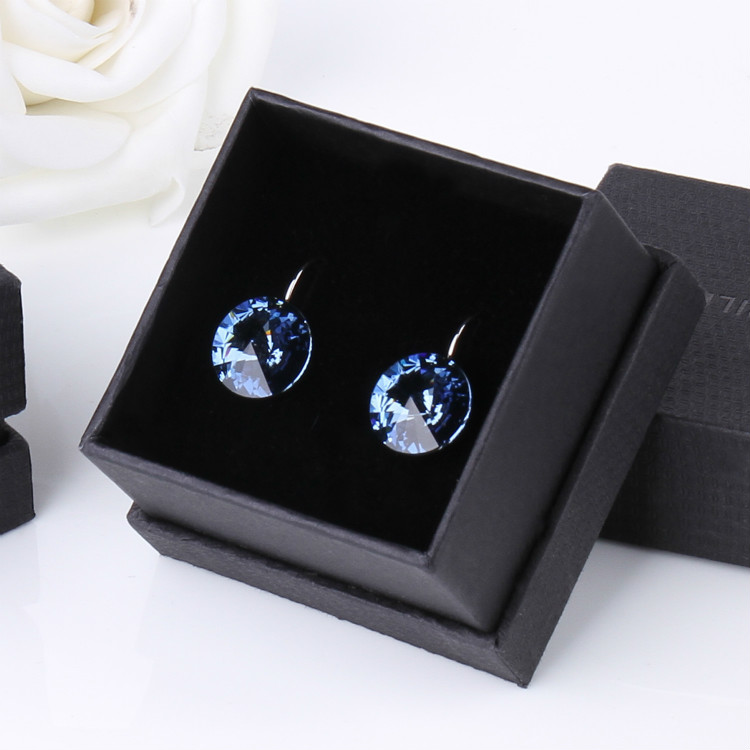 Warme Farben Earring for Women Made with Swarovski Crystal Round Stone Drop Earring Silver 925 Jewelry Earring Gift for lady