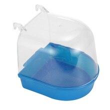 1 шт., коробка для ванны с птицами, аксессуары для чистки птиц, аксессуары для ванны с попугаем, прозрачная пластиковая подвесная Ванна для душа, принадлежности для домашних животных