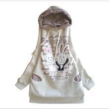 Plus Velvet Cotton Maternity Hoodie Sweatshirt Fleece Tops Pullover Clothing Clothes For Pregnant Women Autumn Winter Outerwear