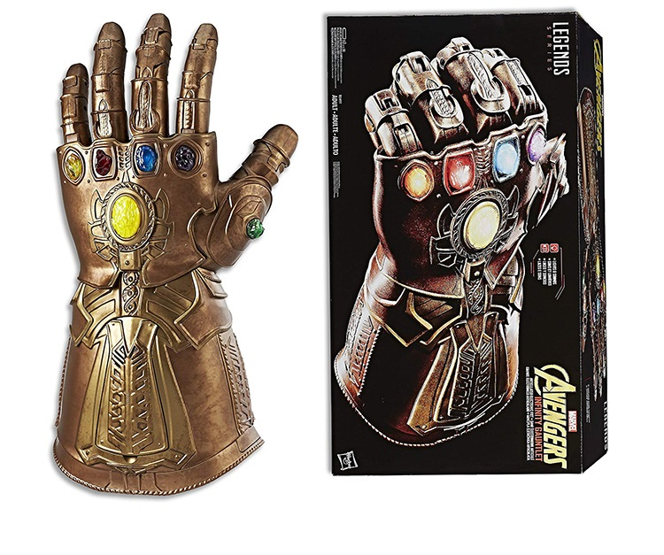 Infinity Gauntlet Gloves Marvel Legends Electronic-Fist Original-Version Lights Cosplay