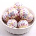 Pastel de Colores 20mm Perlas Ronda 100 unids/lote Mate Acrílico perla de Impresión conejo de pascua Para Los Niños Collares Making!