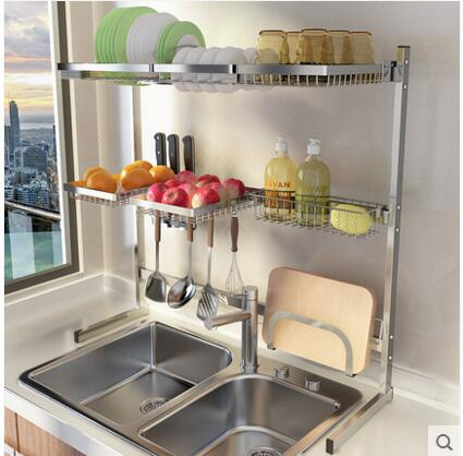 304 Stainless Steel Bowl Gutter Water Rack Kitchen