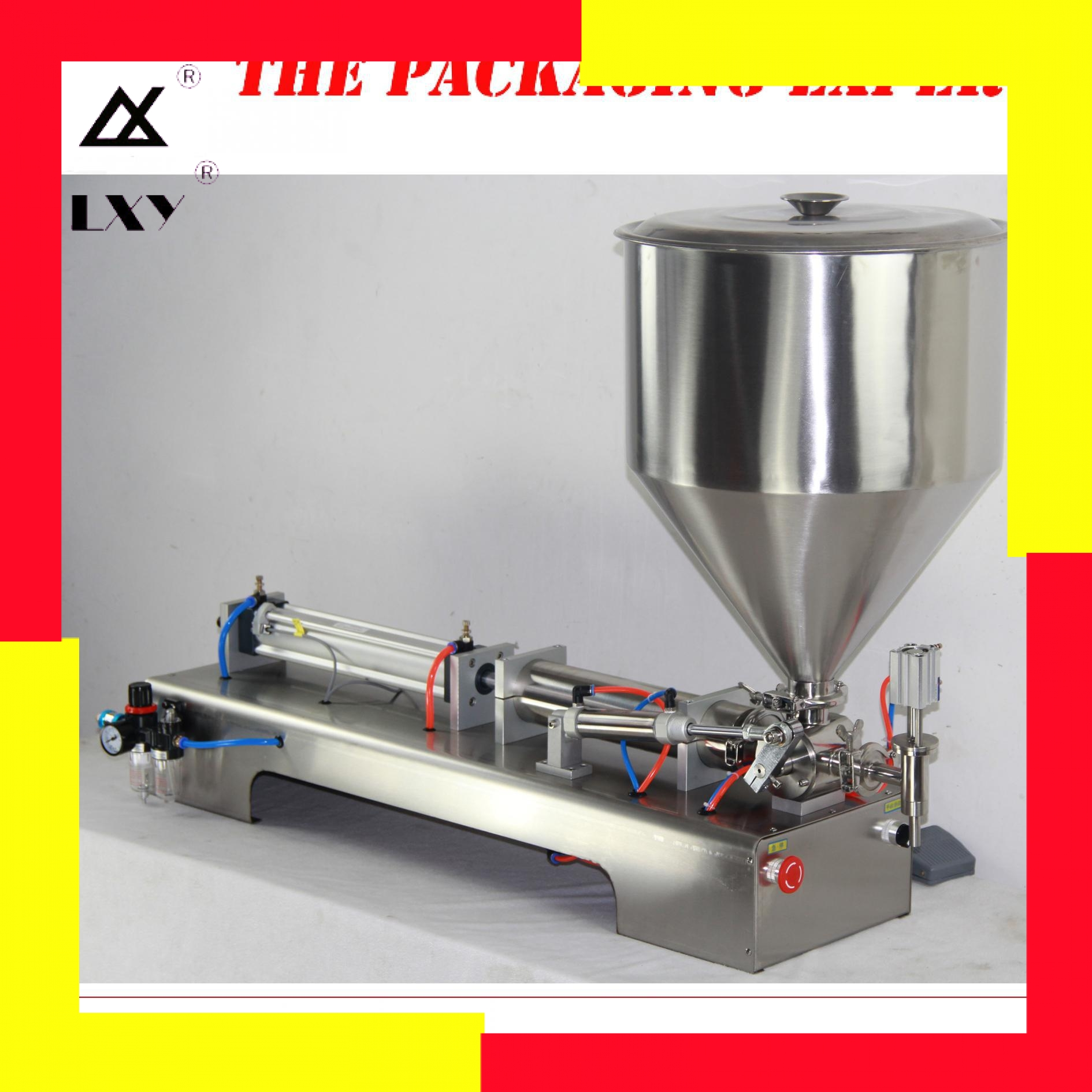200-2500 Model Shampoo Lotion Cream Yoghourt Honey Juice Sauce Jam Gel Paste Filling Machine Pneumatic Nial Polish Piston Filler