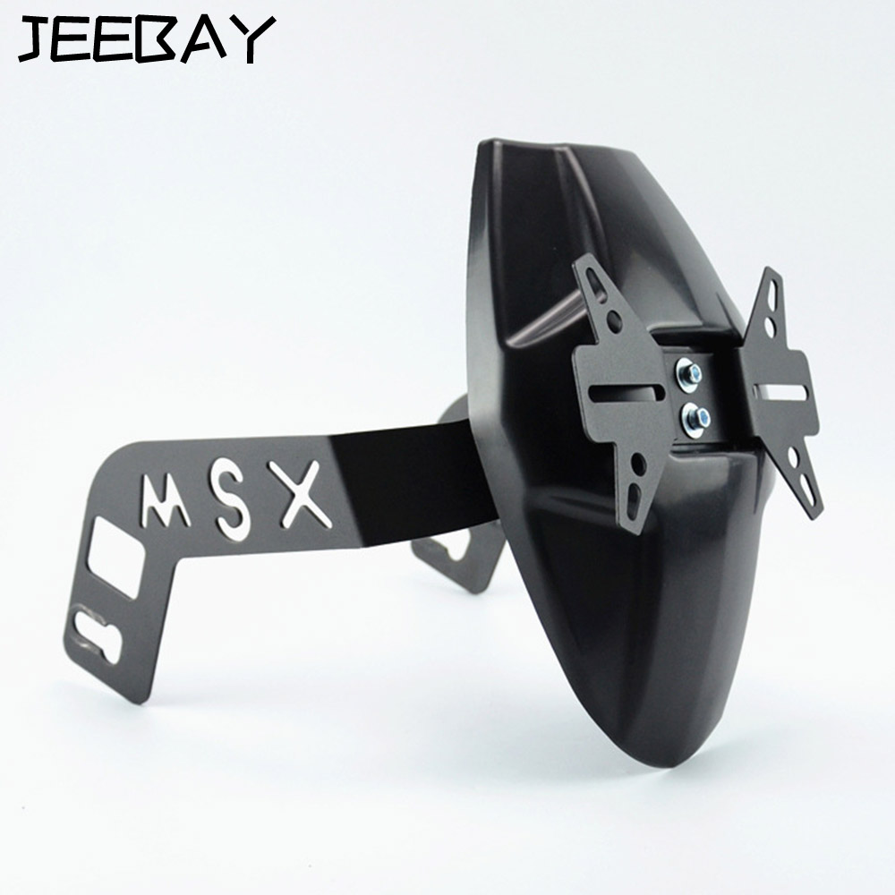 Garde-boue de garde-boue arrière de moto JEEBAY pour Honda Msx125/SF porte-plaque d'immatriculation de moto accessoires de moto
