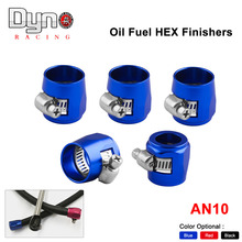 5pcs NEW Fuel HEX Finishers Oil AN10 1/2'' Fittings Clamps Water Tube Hose 21mm(blue red black )(China)