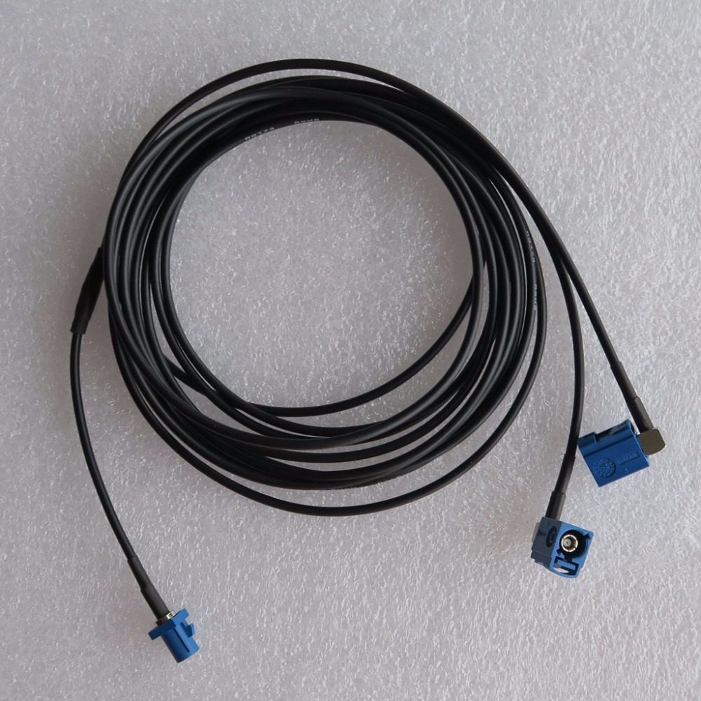 Vehicle GPS Navigation Antenna Adapter Extension Cable,Fakra C RG174 Cable 2m