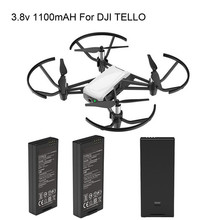 Pure Drone Batteries – LiPo 2PC For DJI Tello Drone Intelligent Flight Battery 1100 mAh 3.8V  MAY 27