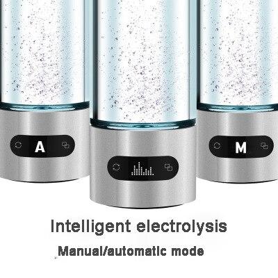 480ml Hydrogen-rich Water Generator Bottle Titanium Japanese Water Ionizer Maker Hydrogen Water Filter Pitcher Alkaline Water