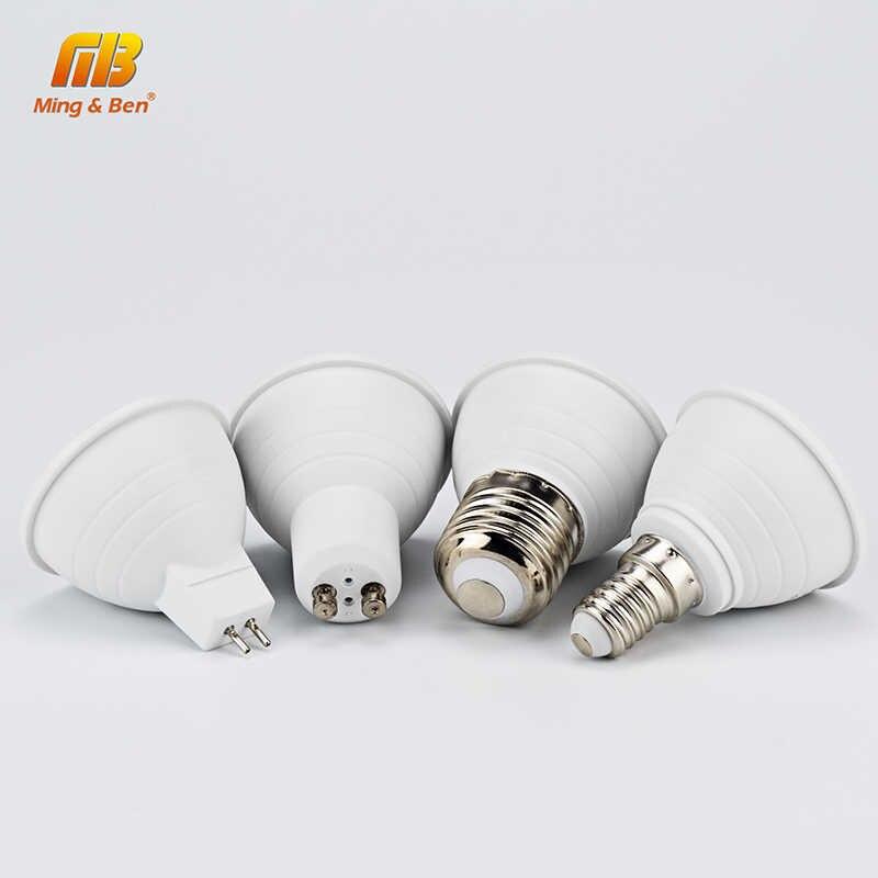 6 pcs LED אור הנורה זרקור GU10 MR16 E14 E27 6 W 220 V LED COB שבב קרן זווית 24 120 תואר LED ספוט אור עבור שולחן מנורת קיר