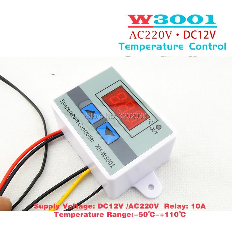 220V XH W3001 Temperature Controller Digital LED Temperature ...