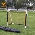 MAICCA футбольных ворот Футбольные ворота складывающиеся 5 игроков малый Взрослых провода пластиковые двери портативный с мешком Футбол целей обучения