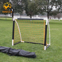 MAICCA Football goal net Soccer gate folding 5 players small Adult wire plastic door portable with bag Soccer training goals