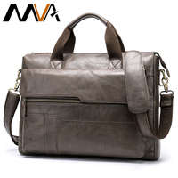 MVA Genuine Leather Briefcase Men's Leather Bag Men Laptop Bags For Business Men's Bag Office Bags For Men Vintage Tote 8615