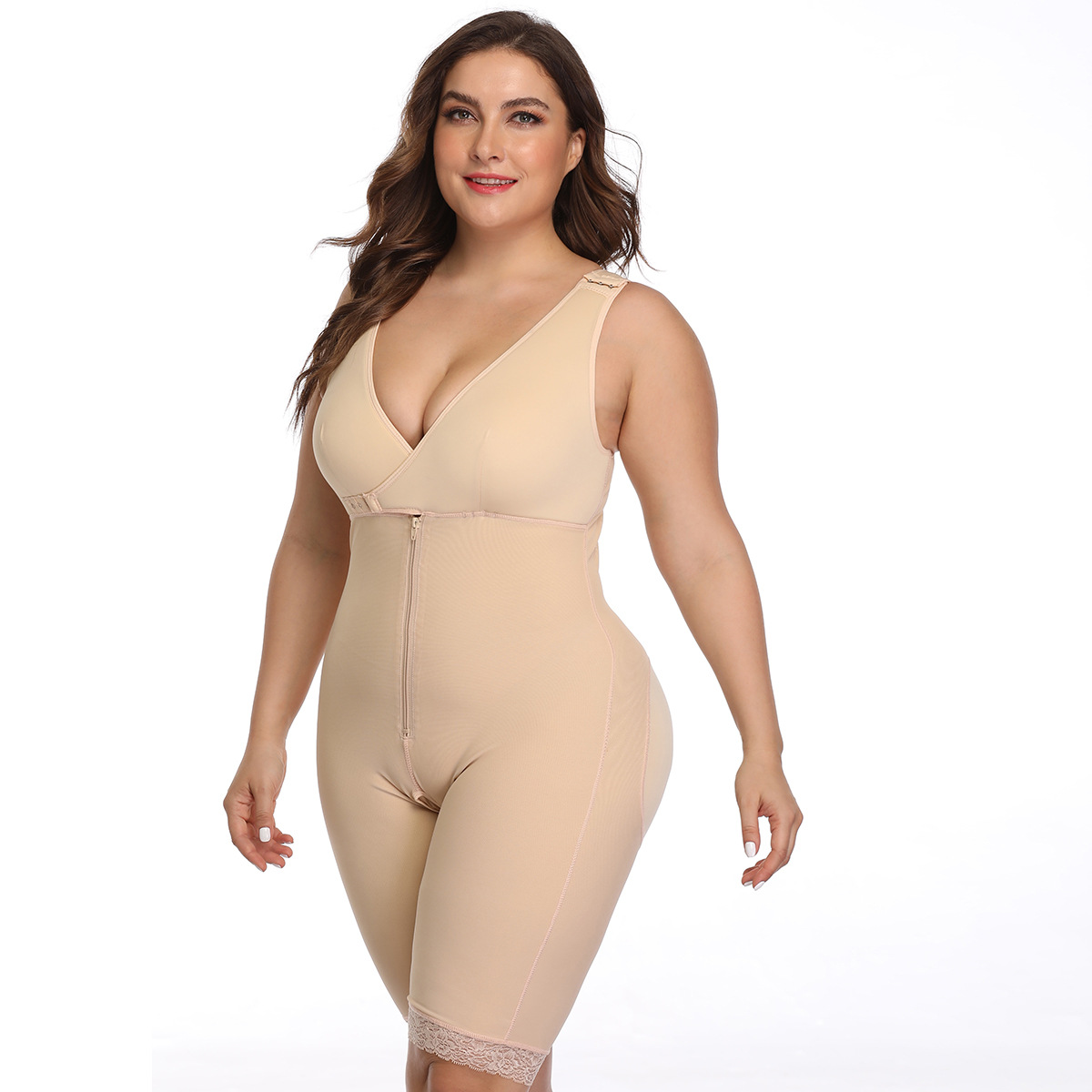 This post surgery compression garment adds hip dimension, a natural lifting effect and control