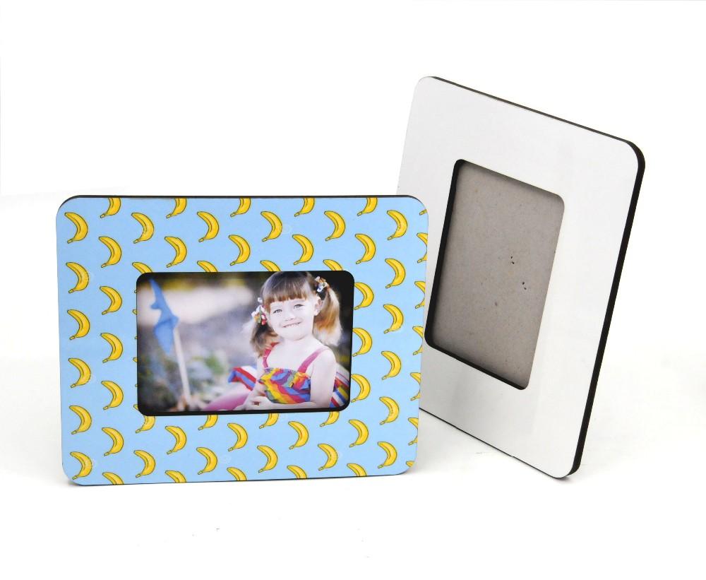 10 Pcslot Sublimation Blank Diy Wooden Photo Frame For Pictures Mdf