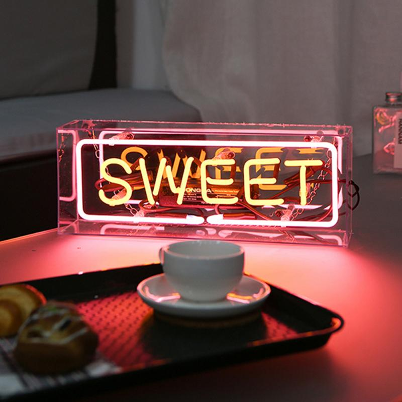 Creative DREAM Neon Sign Light Fashion YEAH Birthday Message Board Holiday Xmas Party Wedding Decor Kid Room Colorful Night Lamp image