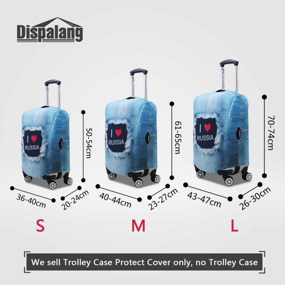 Dispalang Poster wall Womens Luggage Covers For 18-30 inch Trolley Case Graffiti Suitcase Dustproof Cover Travel Accessories