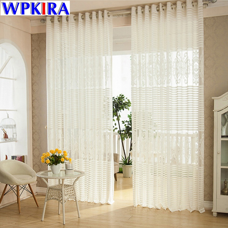 exciting living room curtains drapes | Luxury Net Mesh Curtains Embroidered White Elegant ...