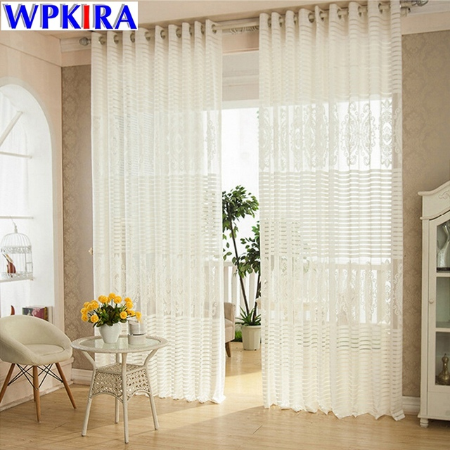 Luxury Net Mesh Curtains Embroidered White Elegant Curtains Living ...