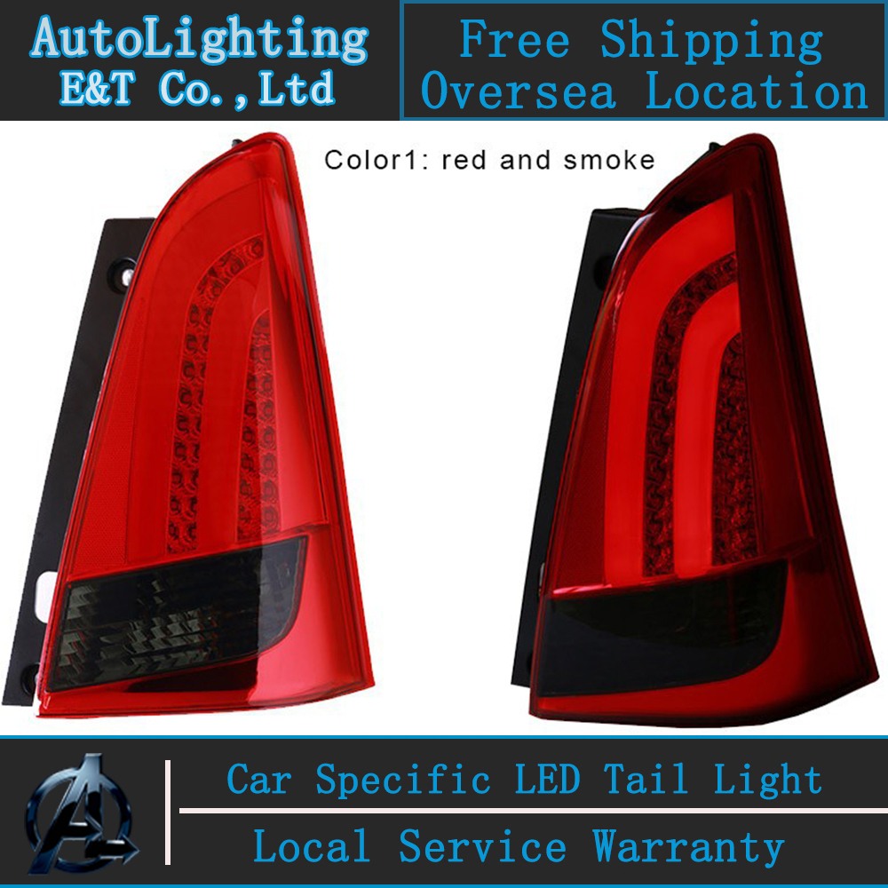 Auto Lighting Style LED Tail Lamp for Toyota Innova tail lights 2012-2013 cob rear trunk lamp cover drl+signal+brake+reverse