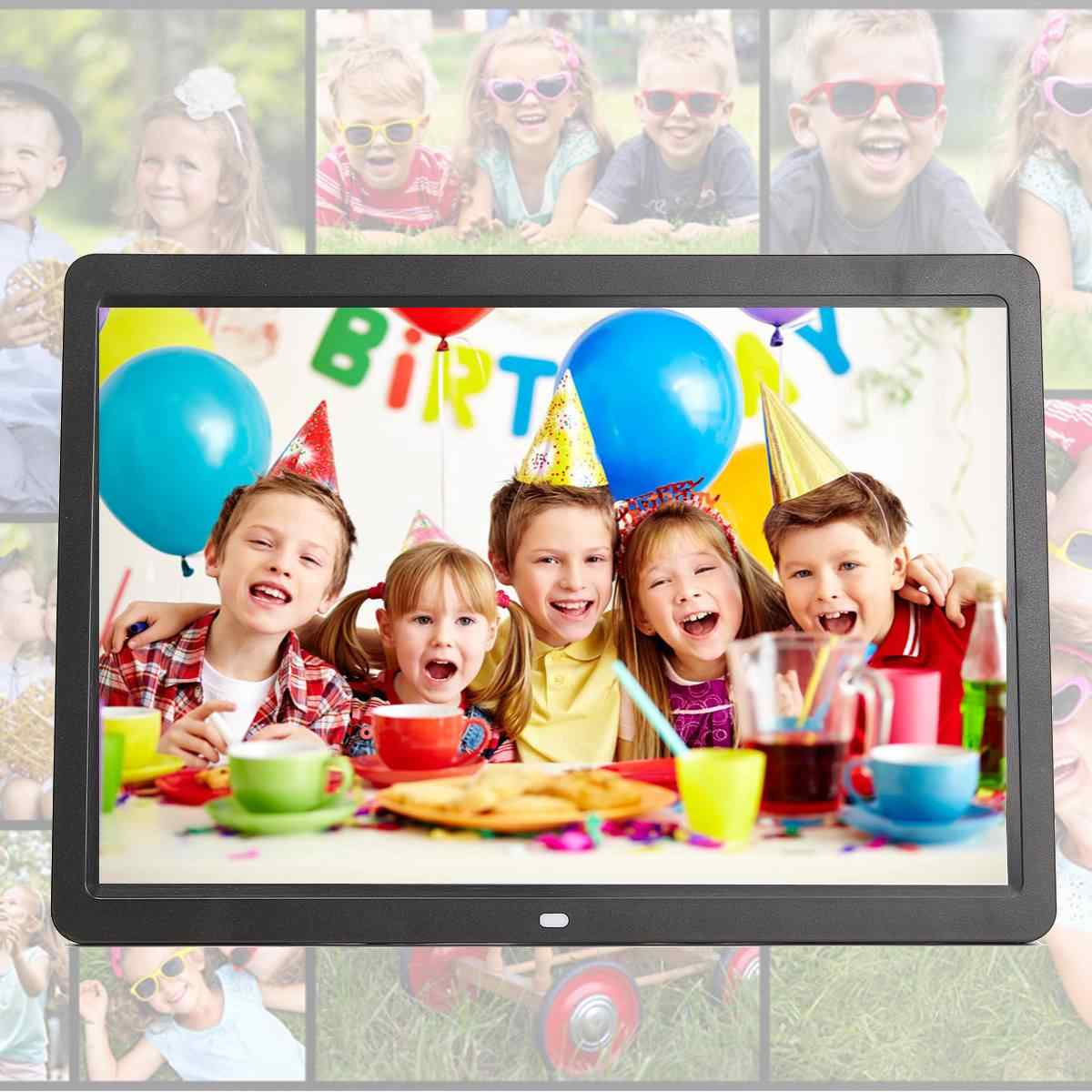 15.6 inch HD Digital LED Photo Frames Gallery Advertising Machine with Remote Control Electronic Album Picture Music Movie