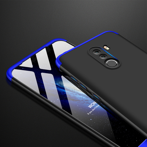 For Xiaomi Pocophone F1 Case Poco F1 Cover Vpower Three-In-One 360 Full Protector Cases for Xiaomi Pocophone F1 Phone Back Cover Islamabad