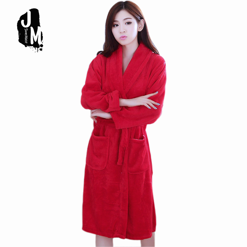 Women Robes Coral Fleece Bathrobes Female Kimono Robe Home Clothing Sleepwear Warm Nightgowns Dressing Gowns Robes Free Shipping