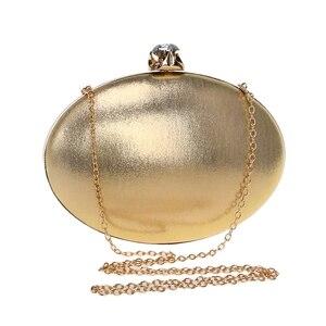 Image 3 - GLOIG damska torba wieczorowa s łańcuszek na ramię listonoszówka dżetów luksusowa mała codzienna kopertówka obiadowa torba wieczorowa