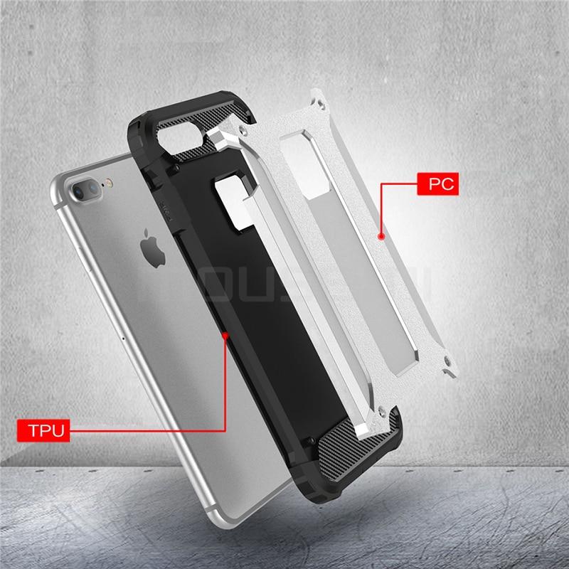 Silicone Luxury Shockproof Hard PC TPU Armor iPhone Case 3