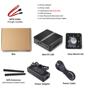 Image 5 - YCSD Fanless Mini PC Intel Celeron N2930 Windows 10 4GB RAM 120GB SSD 300Mbps WiFi Gigabit Ethernet HDMI VGA 5*USB HTPC