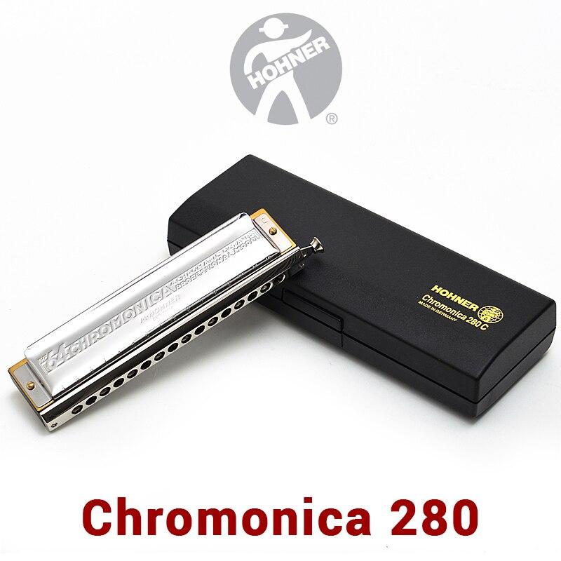 Hohner 280 Armonica Cromatica Germania Originale ABS Pettine C Chiave Bocca Ogans Armonica Cromatica 1664 Cromatica Armonica