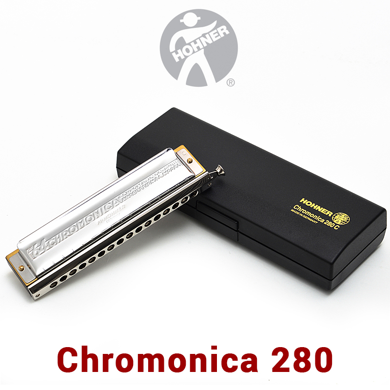 Hohner 280 Chromatic Harmonica Germany Original ABS Comb C Key Mouth Ogans Harmonica Chromatic 1664 Cromatica Armonica easttop brass chromatic harmonica 16 hole brass abs comb musical instruments mouth organ chromatic slide harmonica good sound