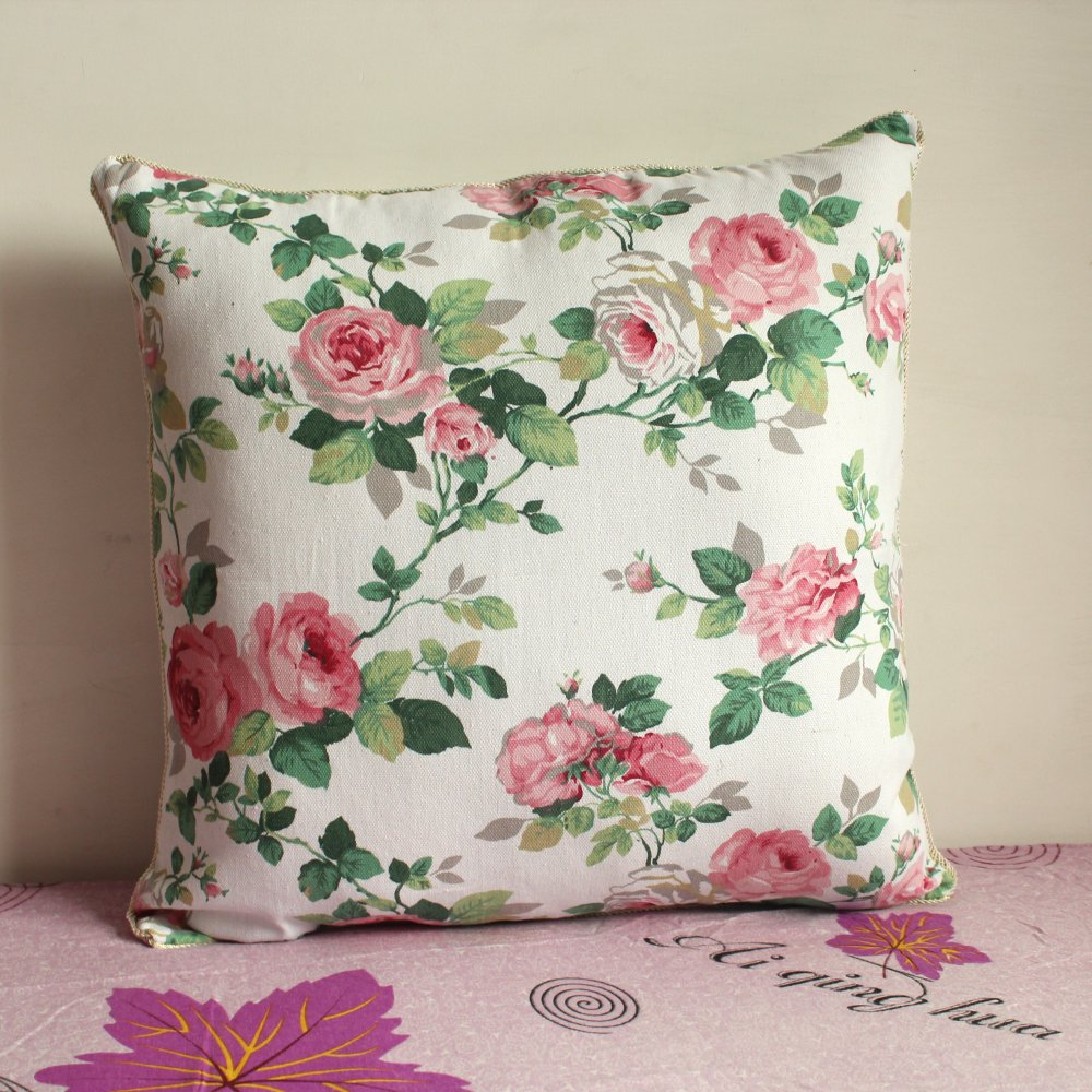 Pillowcase 17PCS 179 inch (17cm*17cm) Beautiful Floral Cloth Pillow ...