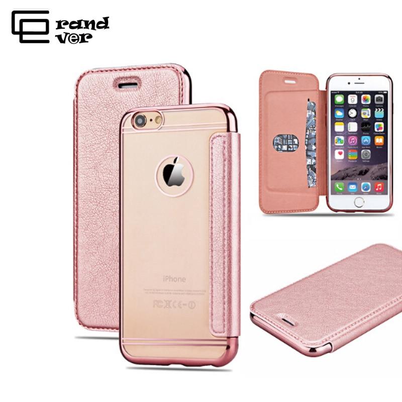 Funda de cuero PU de lujo para iPhone 5 5s SE 6 6s 7 Plus Funda para - Accesorios y repuestos para celulares - foto 1