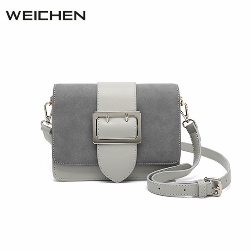 Scrub Leather Patchwork Womens Crossbody Bags 2018 Newest Strap Belt Women Shoulder Bag Small Flap Bag Messenger Bags for Girls