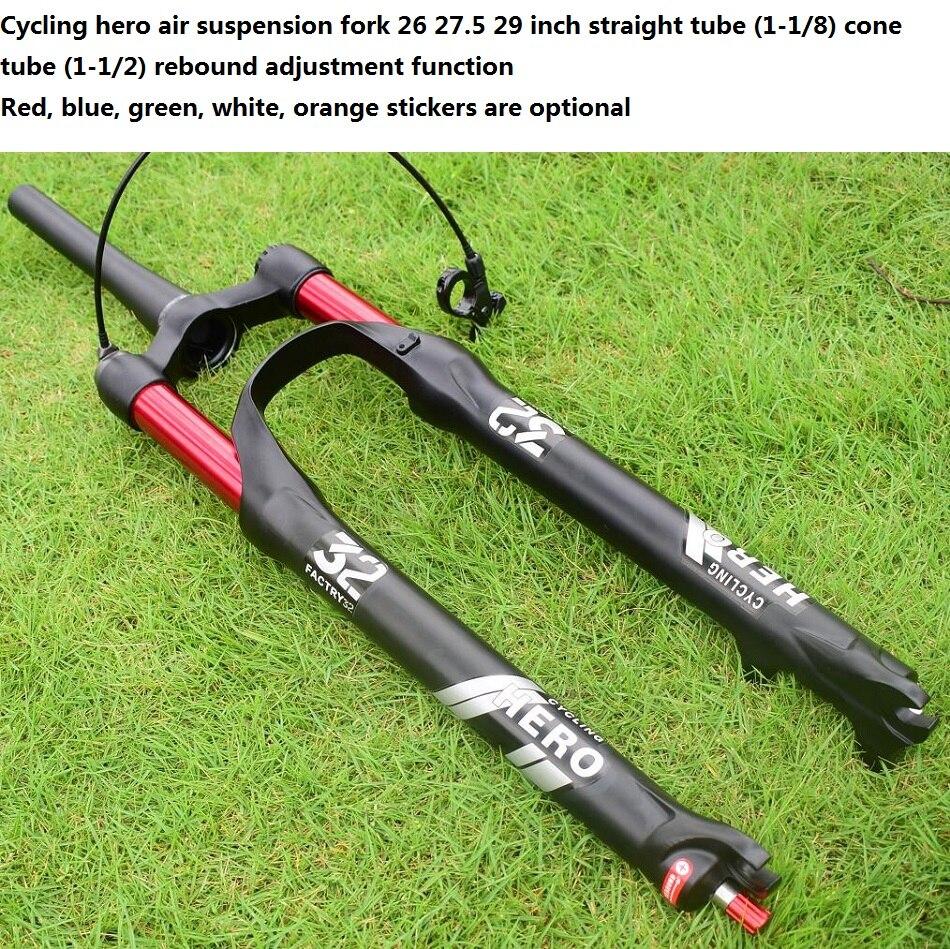 100-120 milímetros avc Rebote Amortecimento Mountain bike Suspensão a Ar Dianteira garfo Plugue 26 27.5 29