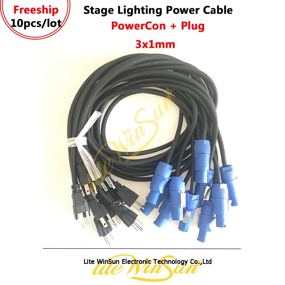 Litewinsune, 10 шт., кабель питания переменного тока, 3x1,0 мм, вилка стандарта сша, ес, великобритании, с разъемом питания для Beam 7R, 10R, 15R, светодиодная ...