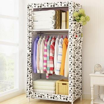 Armario de tela minimalista para dormitorio de estudiantes armario de tela pequeña armario de almacenamiento de ropa plegable armario de muebles para el hogar