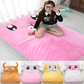 Fancytrader New Pop Animal Plush Beanbag Rabbit Cow Monkey Pig Sheep Sleeping Bed Mattress Home Decoration for Child and Adult